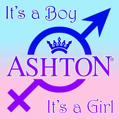 Ashton Classic New Baby It's A Boy Crystal Belicoso Logo