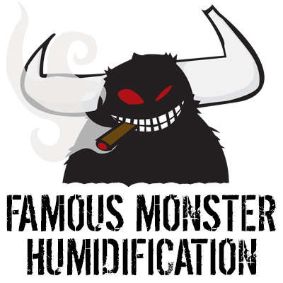 Famous Monster Magma 2 Oz Hygro-Gel Humidification Jar Logo