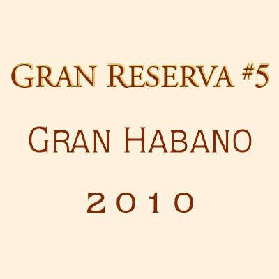 Gran Habano Gran Reserva No. 5 Gran Robusto 2010 5 Pack Logo