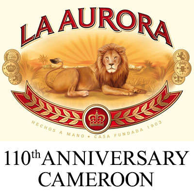 La Aurora 110th Anniversary Cameroon Churchill Logo