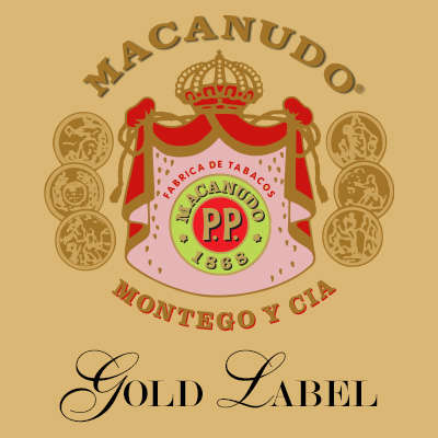 Macanudo Gold Label Golden Torpedo Logo