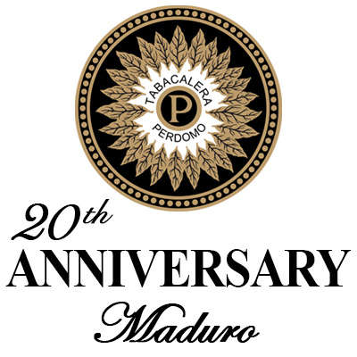 Perdomo 20th Anniversary Maduro Churchill Logo
