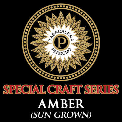 Perdomo Craft Series Amber Robusto Sun Grown Logo
