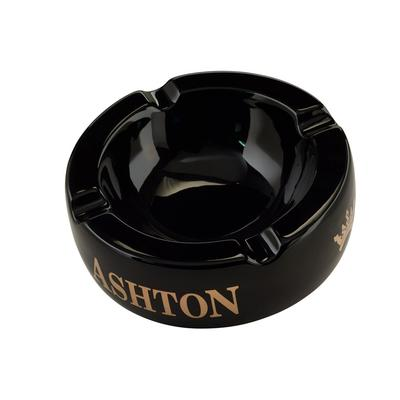 Ashton Black Large Ashtray-AT-ASH-LGBLK - 400