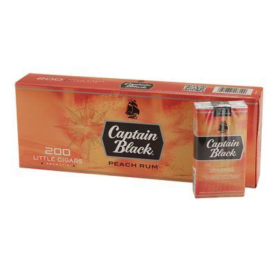 Captain Black Little Cigars Peach Rum 10/20 - CI-CBF-PEACH - 400