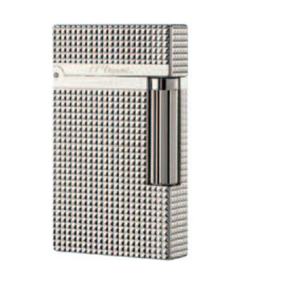 S.T. Dupont Ligne 2 Diamond Heads Silver Lighter - LG-DUP-16184 - 400