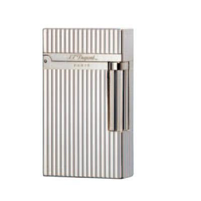 S.T. Dupont Ligne 2 Vertical Lines Silver Lighter - LG-DUP-16817 - 400