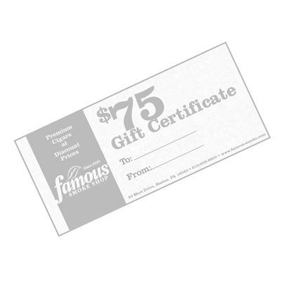 Famous Gift Cards $75.00 Certificate - GC-FGC-0075 - 400