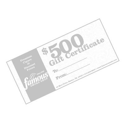 $500.00 Gift Certificate - GC-FGC-0500 - 400
