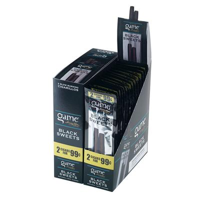 GyV Game Cigarillos Black 2 for 99c - CI-GCI-BLKUP99 - 400