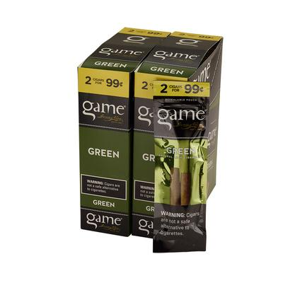 GyV Game Cigarillos Green 99cents - CI-GCI-GRNUP99 - 400