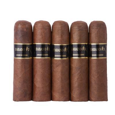 Gran Habano Habano No. 3 Short Robusto 5 Pack - CI-GH3-SHON5PK - 400