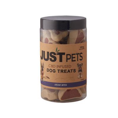 Just CBD Just Pets Dog Treats Steak Bites 100mg - PT-JUS-DSTEAK - 400
