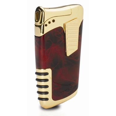 Lotus Double Down Dual Flame Lighter Brown and Gold - LG-LTS-DDBRN - 75