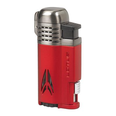 Lotus Defiant Lighter Red Matte & Dark Gunmetal Satin - LG-LTS-DEFRED - 400