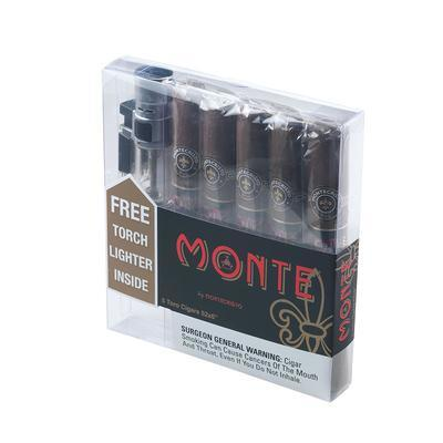 Monte By Montecristo Toro 5 Pack and Torch Lighter - CI-MBM-5TORN - 400