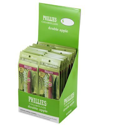 Phillies Cigarillos Double Apple (3) Foil Fresh - CI-PHI-FCDBAPKZ - 400