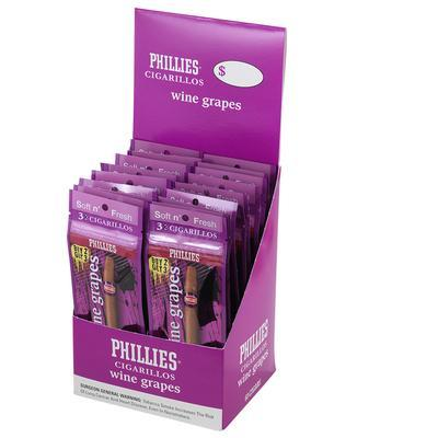Phillies Cigarillos Wine Grape 20/3 Foil Fresh - CI-PHI-FCWGRPK - 400