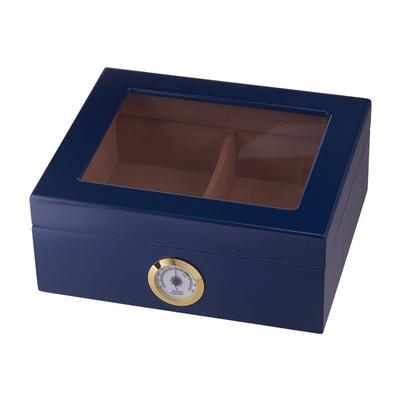 Capri 25-50 Count Blue Glasstop Humidor-HU-QIT-CAPRIBLU - 400