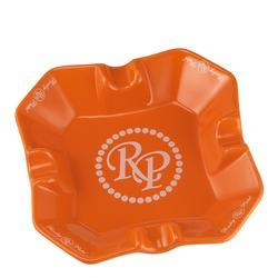Rocky Patel Desktop Square Orange Ashtray - AT-RP-SQORG - 400