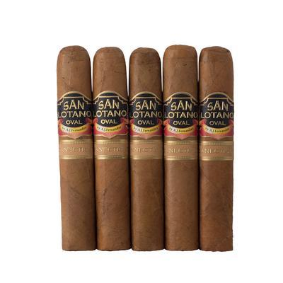 San Lotano Oval Connecticut Robusto 5 Pack - CI-SCT-ROBN5PK - 400