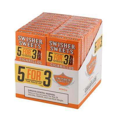 Swisher Sweets Cigarillos 5 for 3 Peach 20/5 - CI-SWI-53PEAC - 400