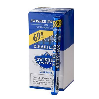 Swisher Sweets Cigarillos Blueberry 69c - CI-SWI-CI25BLU - 400