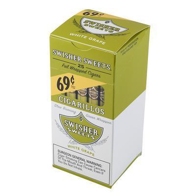 Swisher Sweets Cigarillos White Grape 69c Upright - CI-SWI-CI25WHT - 400