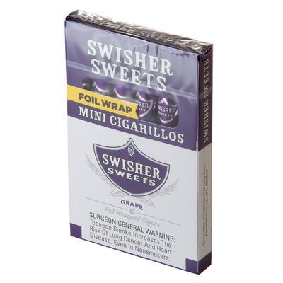 Swisher Sweets Mini Cigarillos Grape (6) - CI-SWI-MIGRPPKZ - 400
