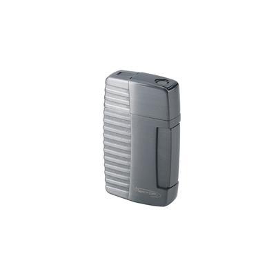 Vector VForce Gunmetal Satin Dual Torch Lighter - LG-VEC-VF02 - 400