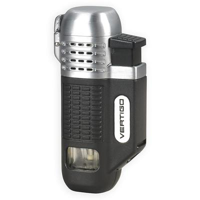 Vertigo Equalizer Quad Flame Lighter Black & Chrome - LG-VRT-EQUABC - 400