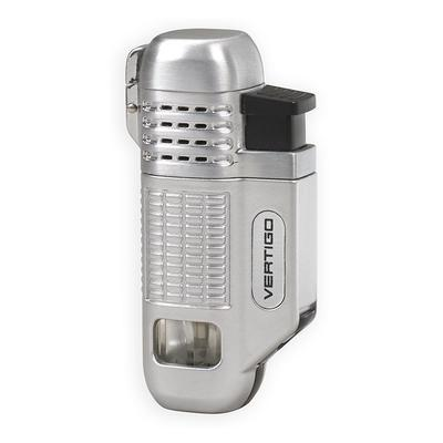 Vertigo Equalizer Quad Flame Lighter Silver - LG-VRT-EQUASLV - 75
