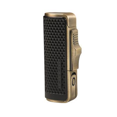 Sotheby Black/Antique Brass Tripple Flame Lighter-LG-VRT-SOTHBLK - 400