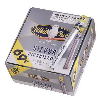 White Owl Cigarillos Silver 69cents - CI-WHI-CIGSLV - 400