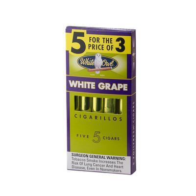 White Owl Cigarillo White Grape - CI-WHI-WGPUPKZ - 75