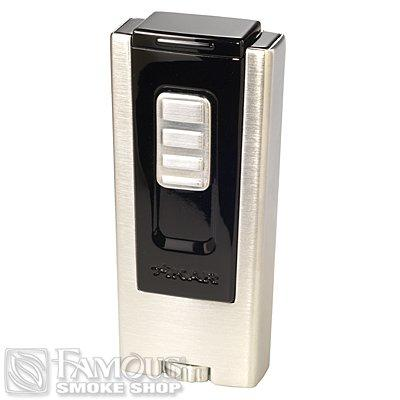 Xikar Lighters Trezo Triple Flame Black - LG-XIK-TREZBLK - 400