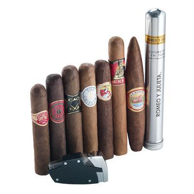8 Cigar Sampler Plus Lighter - CI-ZGR-ZGDEC39 - 400