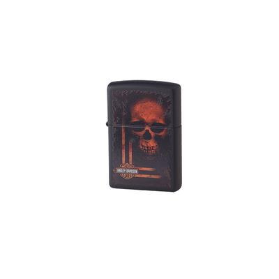 Zippo Black Harley Skull - LG-ZIP-29654 - 400